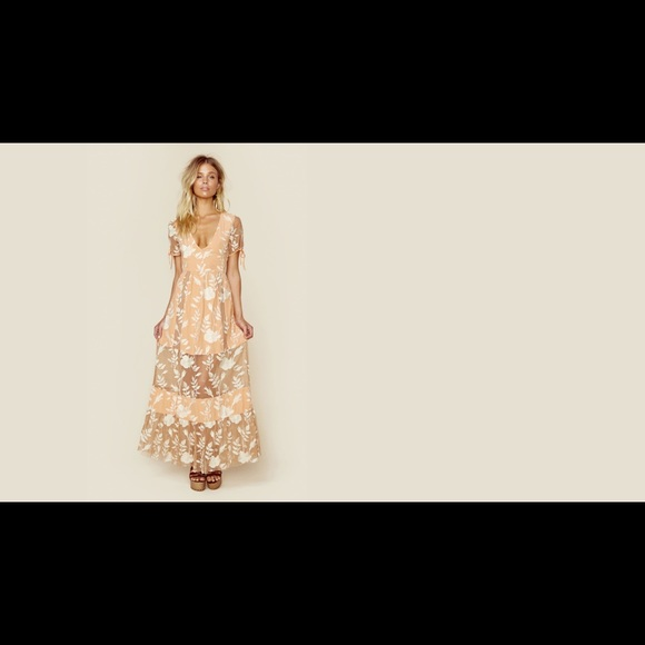 f4598b29dea7 For Love And Lemons Dresses | For Love Lemons Mia Maxi Dress Peach ...